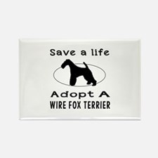 Adopt A Wire Fox Terrier Dog Rectangle Magnet