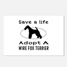 Adopt A Wire Fox Terrier Dog Postcards (Package of
