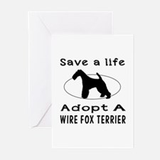Adopt A Wire Fox Terrier Dog Greeting Cards (Pk of