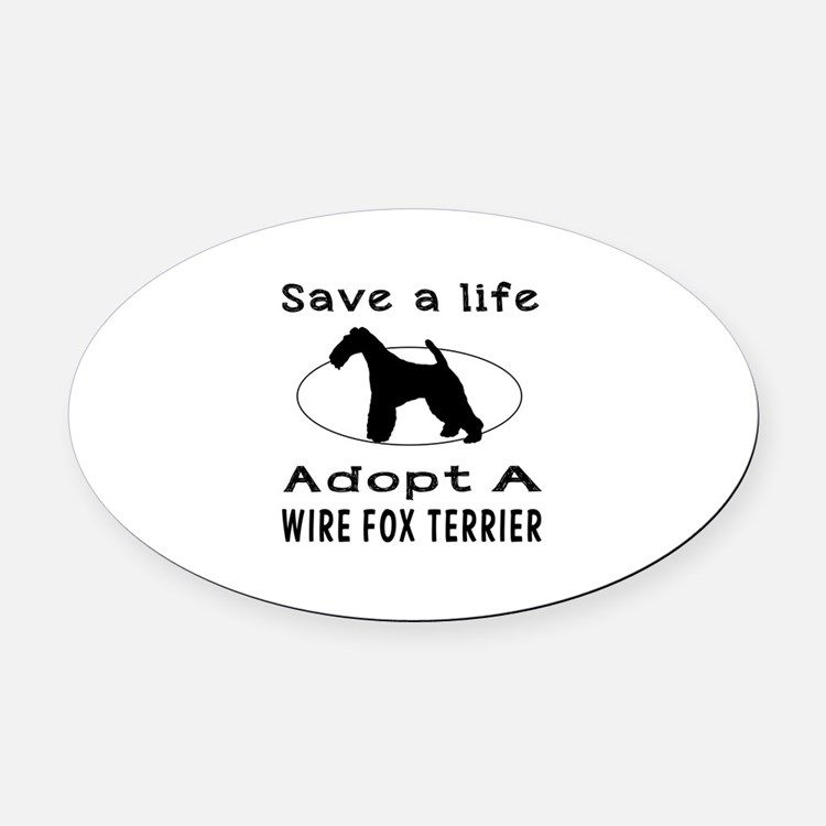 Adopt A Wire Fox Terrier Dog Oval Car Magnet