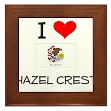 I Love HAZEL CREST Illinois Framed Tile