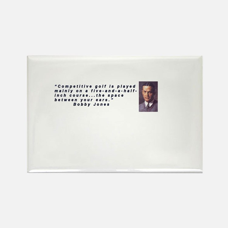Bobby Jones Quoteable Rectangle Magnet