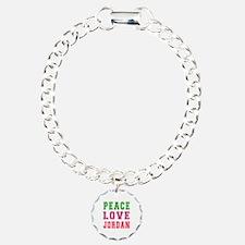 Peace Love Jordan Charm Bracelet, One Charm