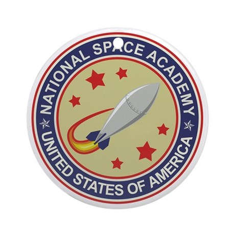 Space Academy Seal Ornament (Round)