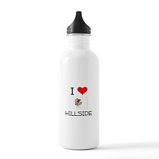 I Love HILLSIDE Illinois Water Bottle