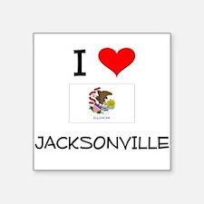I Love JACKSONVILLE Illinois Sticker