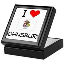 I Love JOHNSBURG Illinois Keepsake Box