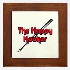The Happy Hooker Framed Tile