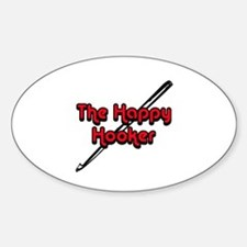 The Happy Hooker Oval Decal