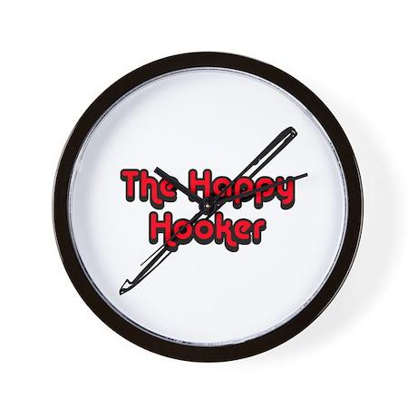 The Happy Hooker Wall Clock