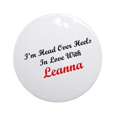 In Love with Leanna Ornament (Round)