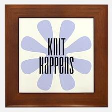 Knit Happens Framed Tile