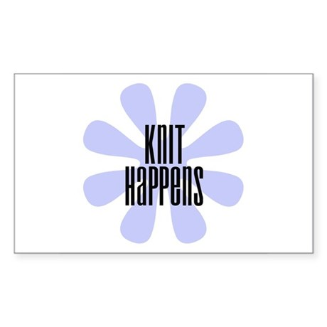 Knit Happens Rectangle Sticker