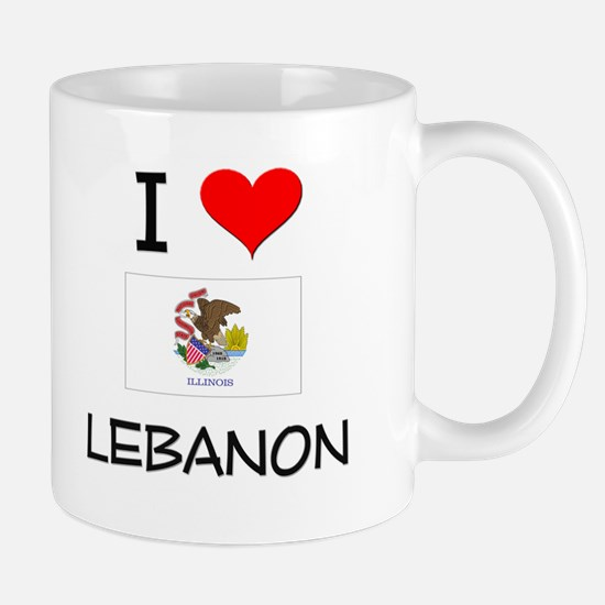I Love LEBANON Illinois Mugs