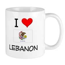 I Love LEBANON Illinois Mugs