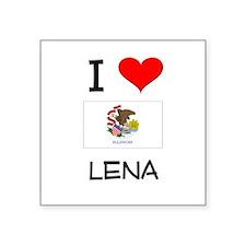 I Love LENA Illinois Sticker