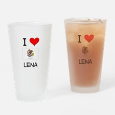 I Love LENA Illinois Drinking Glass