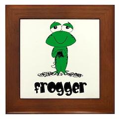 Yarn - Frogger Framed Tile
