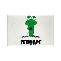 Yarn - Frogger Rectangle Magnet