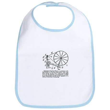 Yarn - Vintage Spinning Wheel Bib