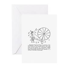 Yarn - Vintage Spinning Wheel Greeting Cards (Pk o