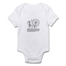 Yarn - Vintage Spinning Wheel Infant Bodysuit