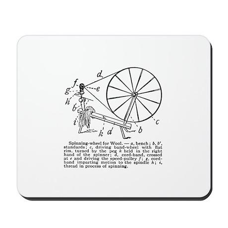 Yarn - Vintage Spinning Wheel Mousepad