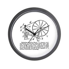 Yarn - Vintage Spinning Wheel Wall Clock
