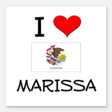 "I Love MARISSA Illinois Square Car Magnet 3"" x 3"""
