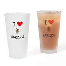 I Love MARISSA Illinois Drinking Glass