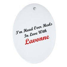 In Love with Lavonne Oval Ornament