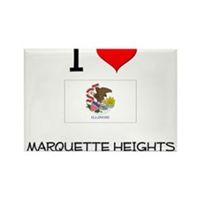 I Love MARQUETTE HEIGHTS Illinois Magnets