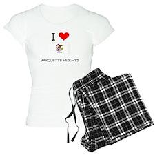 I Love MARQUETTE HEIGHTS Illinois Pajamas