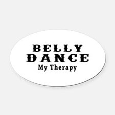 Belly Dance My Therapy Oval Car Magnet