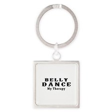 Belly Dance My Therapy Square Keychain