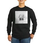 Sew Ho - Sewing Machine Long Sleeve Dark T-Shirt