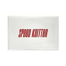 Speed Knitter Rectangle Magnet