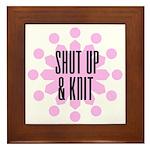 Shut Up & Knit Framed Tile