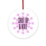 Shut Up & Knit Ornament (Round)