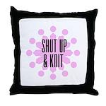 Shut Up & Knit Throw Pillow