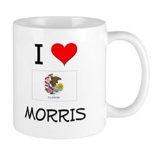 I Love MORRIS Illinois Mugs