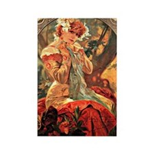 Cute Mucha vintage Rectangle Magnet