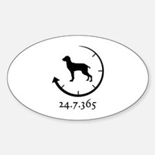 Bracco Italiano Sticker (Oval)