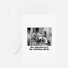 Sisterhood of the Clicking St Greeting Cards (Pack