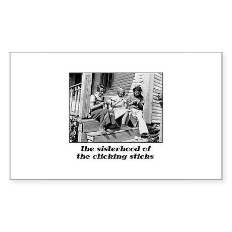Sisterhood of the Clicking St Sticker (Rectangular