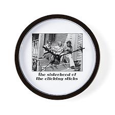 Sisterhood of the Clicking St Wall Clock