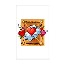 Valentine Heart Balloon Rectangle Decal
