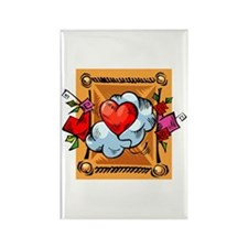 Valentine Heart Balloon Rectangle Magnet