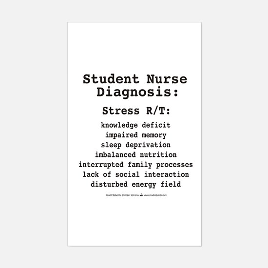 Student Nurse Diagnosis Rectangle Decal