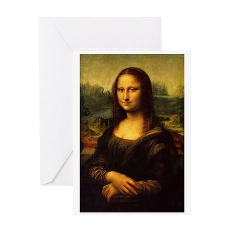 Mona_Lisa Greeting Card